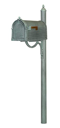 Special Lite SCB-1015-SPK-679-VG Berkshire Curbside with Richland Mailbox Post44; Verde Green