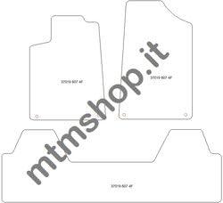 One fr1630 MTM Tapis de Sol 607 de 2000 a 2010 sur Mesure en Velours Noir cod