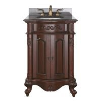 Avanity Provence 24 in. Vanity with Imperial Brown Granite Top and Sink in Antique Cherry finish ()
