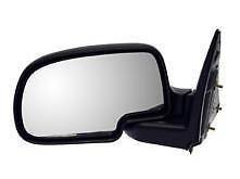 99 - 06 Chevrolet Silverado GMC Sierra Driver Door Mirror Manual Textured Black NEW 01-06 Suburban Tahoe Yukon 25876714 GM1320230