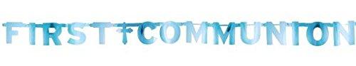 Amscan Blue First Communion Letter Banner ()