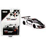 Acura NSX GT3 White with Black Stripe 2019 Mini GT Limited Edition to 1,200 Pieces Worldwide 1/64 Diecast Model Car by True Scale Miniatures MGT00027