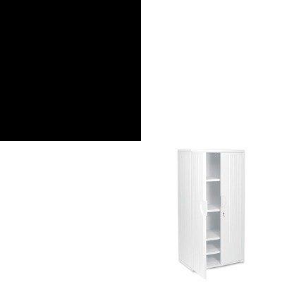 KITICE30237ICE92573 - Value Kit - Iceberg OfficeWorks Resin Storage Cabinet (ICE92573) and Iceberg Presentation Flipchart Easel w/Dry Erase Surface (ICE30237) by Iceberg