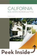 Read Online California Real Estate Escrow and Title PDF