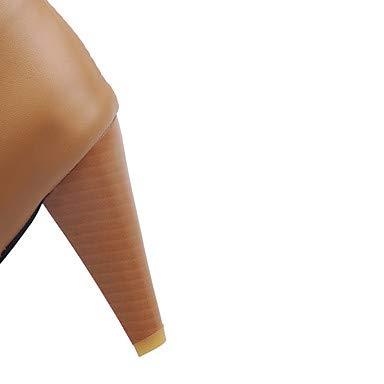 NVXUEZIX Damen Schuhe Kunstleder Kunstleder Kunstleder Winter Herbst Modische Stiefel Stiefel Null Konischer Absatz Runde Zehe Kniehohe Stiefel Strass Für Normal Party, us11.5   eu43   uk9.5   cn45 4e122a