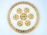 Ceramic Pesach Seder Plate 35cm