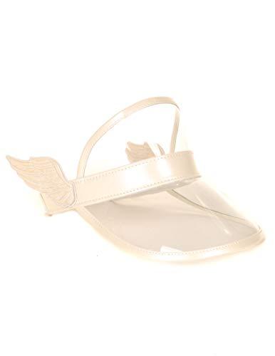 FYDELITY Visor Hat Cap Sun UV Protection Accessories -Wings Metallic White