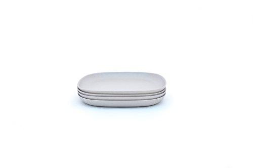 Biobu [by Ekobo] Gusto Side Plate Set (4 Pack), Stone (Stone Plates)