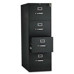 -- 310 Series Four-Drawer, Full-Suspension File, Legal, 26-1/2d, Black