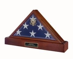American Flag Frame with Walnut Pedestal for Personalized ()