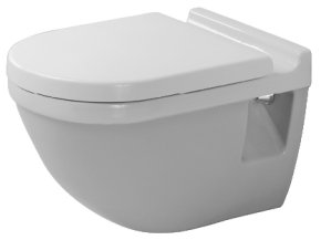 Duravit 2200090000 Starck 3 Wall Mount Toilet Bowl White Finish