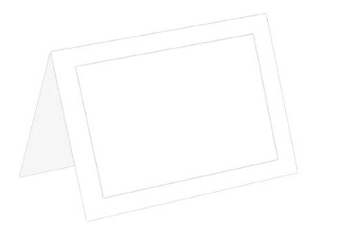 4 Bar Card Size - 4 Bar RSVP White Panel Foldover 65# Cover-100 Cards Limited PapersTM Brand