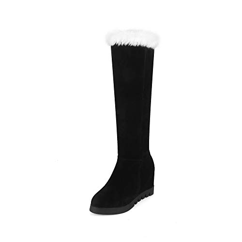 Negro Botas Calientes Moda 43 Antideslizantes 34 Planas De Para Mujer Cn botas Altas 7wUOqqd