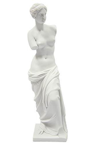 Vittoria Collection 15.5 Inch Venus De Milo Aphrodite of Milos Greek Roman Mythology Goddess of Love and Beauty Statue Sculpture Figurine Figure Made in Italy]()