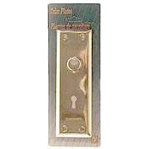 Pair Of Brass Plated New York Style Back Plates With Keyhole - Antique Door Plates: Amazon.com