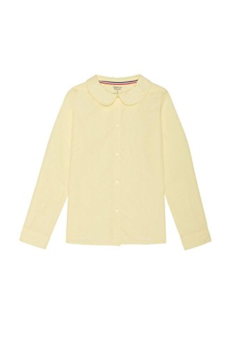 French Toast Big Girls' Long Sleeve Peter Pan Collar Blouse, Yellow, 8 by French Toast