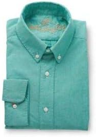 Camisa Hombre Clasica Oxford de Manga Larga de Color Verde de ...