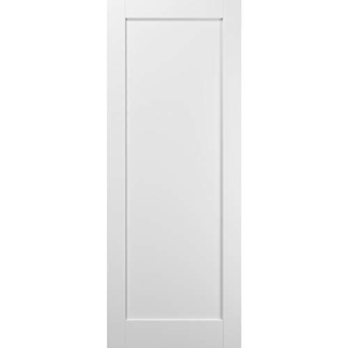 Slab Barn Door Panel 42 x 84 | Quadro 4111 White Silk | Sturdy Finished Wooden Modern Doors | Pocket Closet Sliding
