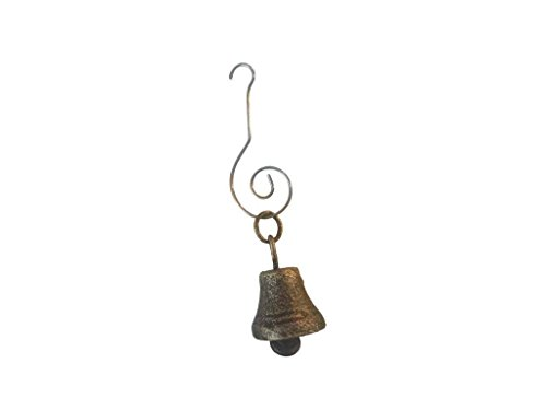 Hampton-Nautical-Antique-Gold-Cast-Iron-Bell-Christmas-Ornament-4