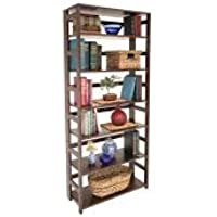 Flip Flop 6-Shelf Folding Bookcase MOCHA WALNUT