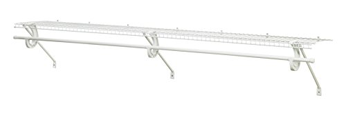 (ClosetMaid 5632 Super Slide Ventilated Shelf Kit with Closet Rod, 6' by 12