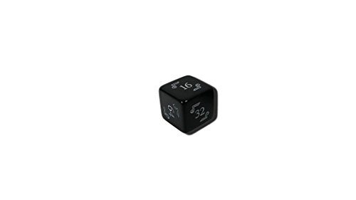 (Backgammon Doubling Cube (Black) - 22mm Dice (Large))