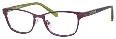 Couture Juicy Violet - Juicy Couture Metal Rectangular Eyeglasses 48 00B2 Matte Violet Green