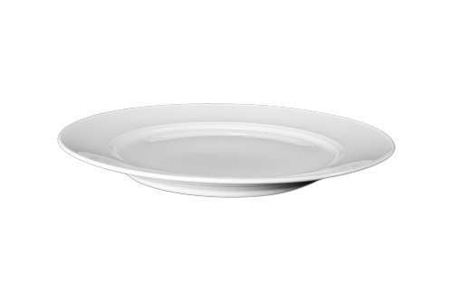 Bia Cordon Bleu White Porcelain Saturn Salad Plates, Set of (Bistro Dinner Plate)