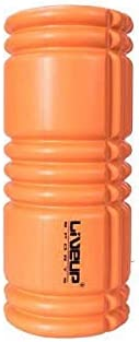 LiveUp Sports Yoga Foam Roller for Exercise Muscle Recovery or Massage, Orange (141670)