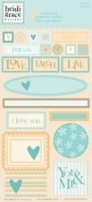 Heidi Grace Designs - Heidi Grace Designs Embossed Shapes Cardstock Stickers - Meadow