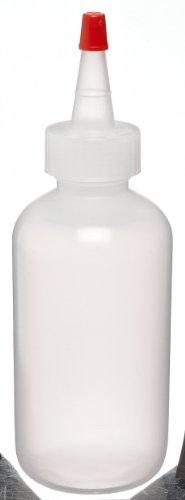 Bel-Art Dispensing/Drop 250ml (8oz) Polyethylene Bottles; 24mm Closure (Pack of 12) (F11637-0008)