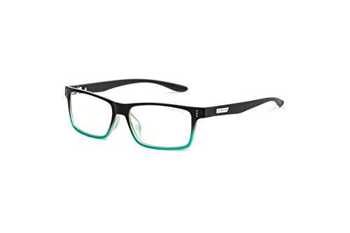 (GUNNAR Youth Gaming and Computer Eyewear /Cruz, Onyx-Teal Frame, Clear Tint - Patented Lens, Reduce Digital Eye Strain, Block 35% of Harmful Blue Light)