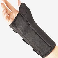 Fla 22-461SMBLK Pro Lite Wrist Splint With Abducted Thumb for Left, Black, Small