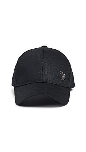 Paul Smith Men's PS Zebra Baseball Cap, Black, One Size