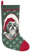 Personalized Shih Tzu Dog Christmas Stocking (Tapestry Dog Christmas Stocking)
