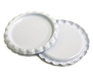50 Flattened White ON BOTH SIDES Colored Bottlecaps Flat Color two Side New by Bottle Cap Co.
