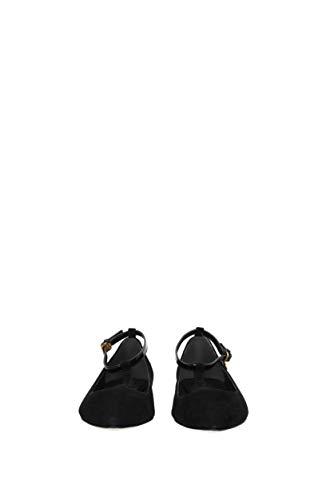 Suède Femme Noir Ballerines Ashton 42968 Eu Tory Burch wUxSqAI7qg