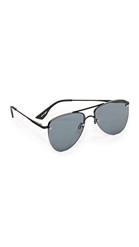 Le Specs Women's The Prince Sunglasses, Matte Black/Smoke Mono, One - Specs La