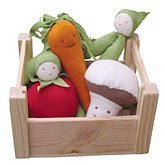 Under the Nile Organic Cotton Veggies in a Crate with Mini Tool Box ()