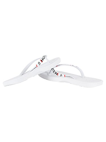 Hunter Mens Esploso Logo Flip-flop Bianco