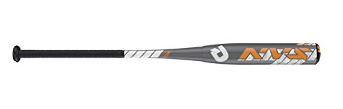 Wilson DeMarini NVS Vexxum Baseball Bat, 31'/19 oz, Silver/Neon Orange/White