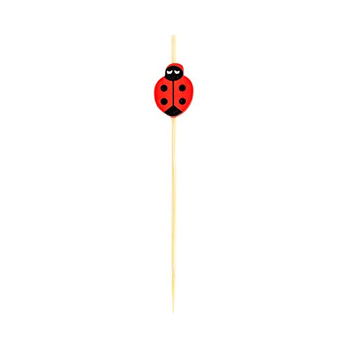 Ladybug Bamboo Skewer 4 inch 1000 count box by Restaurantware (Image #1)
