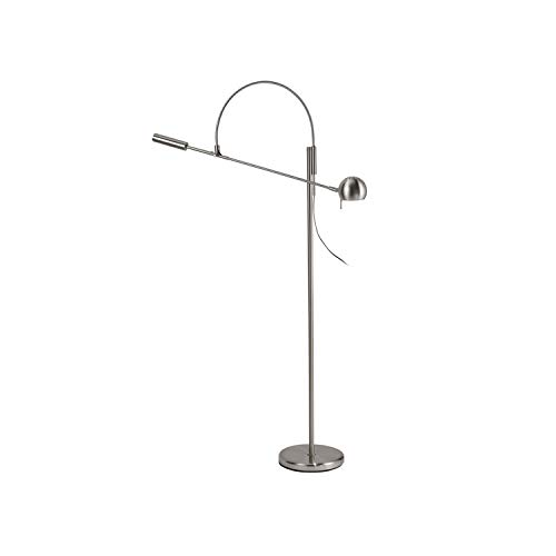 (Sonneman 3330.13 Contemporary Modern One Light Floor Lamp from Orbiter Collection in Pwt, Nckl, B/S, Slvr. Finish, Satin Nickel)
