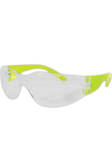 - Magid Y10 Gemstone Myst Colored Temple Protective Eyewear with High viz Green with Clear Lens (One Pair)