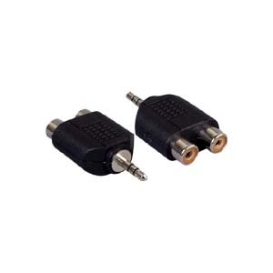 InstallerParts 3.5mm Stereo Plug to Dual RCA Jack Adapter