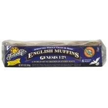 Food For Life Baking Organic Genesis 1:29 - Sprouted 100 Percent Whole Grain and Seed English Muffin, 16 Ounce - 6 per case.
