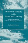 Authorial Divinity in the Twentieth Century, Barbara K. Olson, 0838753167