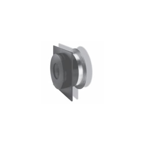 Chimney 69630 6 in. Dura-Vent Dura-plus Wall Thimble- Stainless Steel Painted Black-with Trim - Duraplus Wall