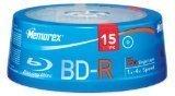 memorex-blue-ray-disc-1x-4x-write-speed-25gb-data-capacity-bd-r-single-layer-media-15-discs-spindle-