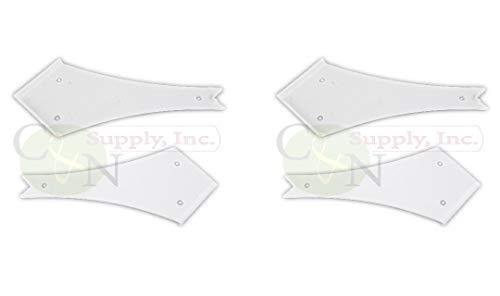 NUSET RV Slide-Out Corner Cover Cap Trim Protector for Camper Trailer - Set of 4 (4-1/2